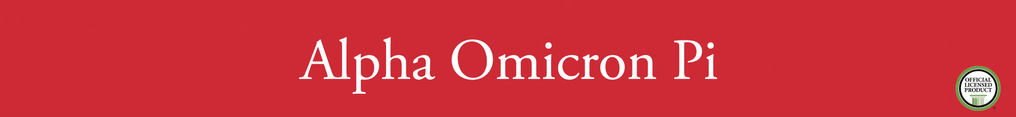 Alpha Omicron Pi Banner
