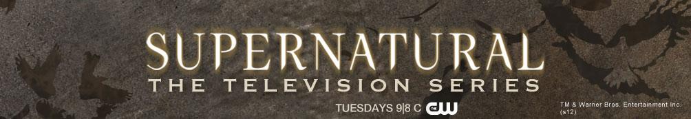Supernatural logo featuring the Supernatural TV Show Cast